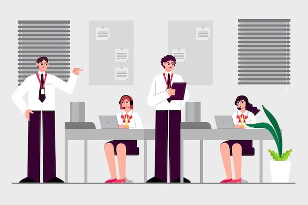 Persone illustrate in formazione aziendale