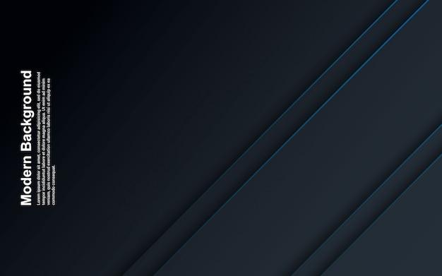 Illustrazione di colore nero e blu del fondo astratto con la linea blu
