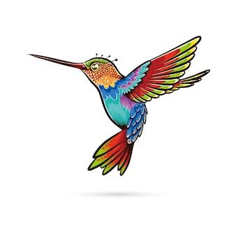Illustrazione del colibrì astratto.