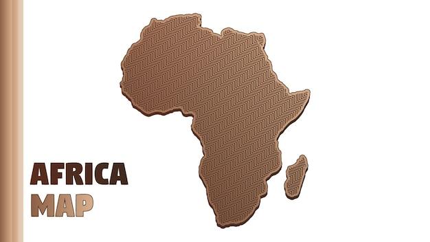 Illustrazione della mappa dell'africa vector