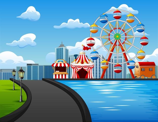 Illustrazione del parco divertimenti