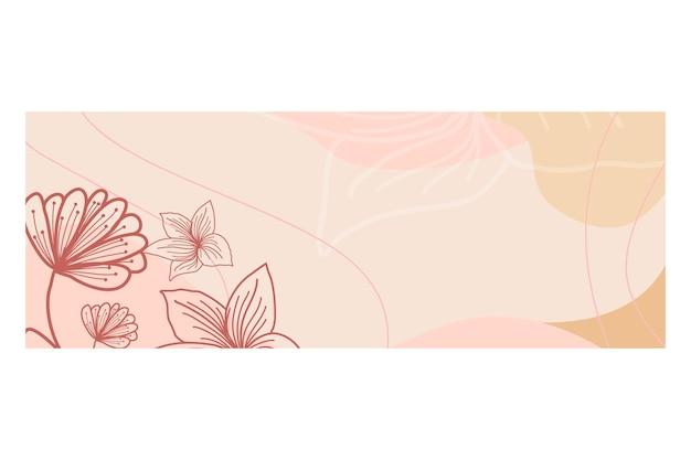 Sfondo illustrazione con tema floreale