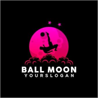 Illustrazione della palla sullo stile del gradiente della luna