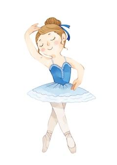 Illustrazione della ballerina che balla