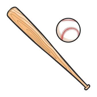 Illustrazione del baseball con i pipistrelli