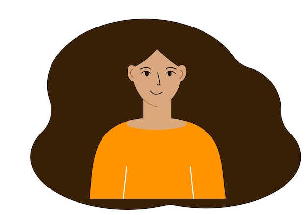 Illustrazione di una bella donna con i capelli lussureggianti