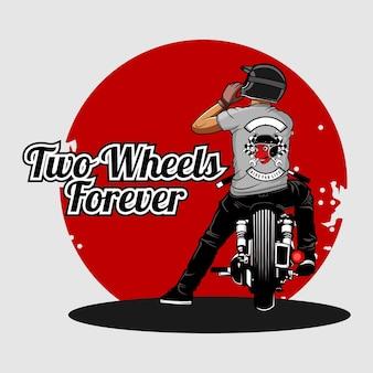 Illustrazione di motociclisti
