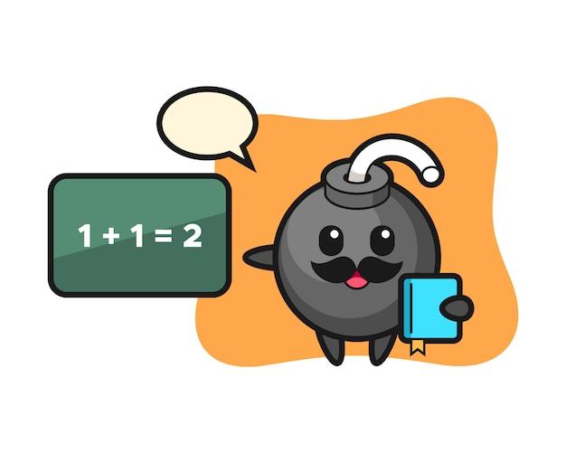 Illustrazione del personaggio di bomba come insegnante