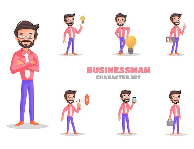 Illustrazione del set di caratteri dell'uomo d'affari
