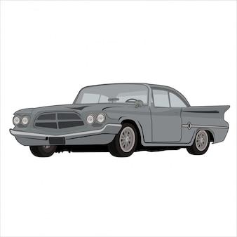 Illustrazione auto classica retrò vintage
