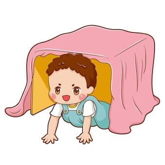 Illustrazione del bambino personaggio dei cartoni animati