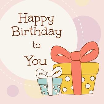 Illustrazione per la celebrazione e il concetto di buon compleanno.