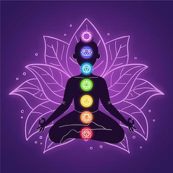 Illustrazione del concetto di chakra