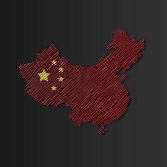 Illustrazione della mappa della cina mappa cinese di vettore