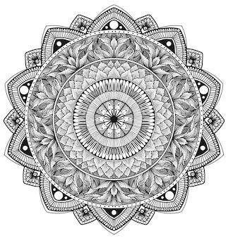 Illustrazione cerchio mandala ornamento floreale