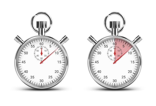Cronometro classico illustrazione con tracker del tempo