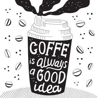 L'illustrazione del caffè è sempre una buona idea