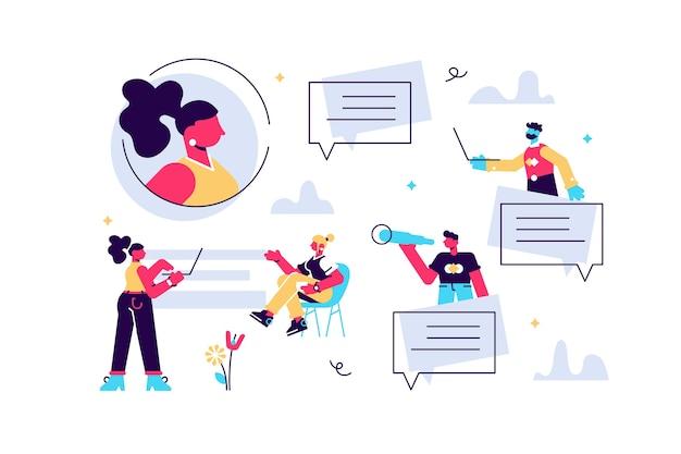 Illustrazione della comunicazione via internet