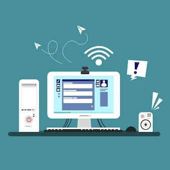 Illustrazione di un design del dispositivo del computer