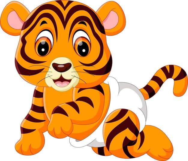 Illustrazione della cute baby tiger