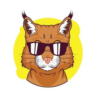 Illustrazione di avatar bobcat carino
