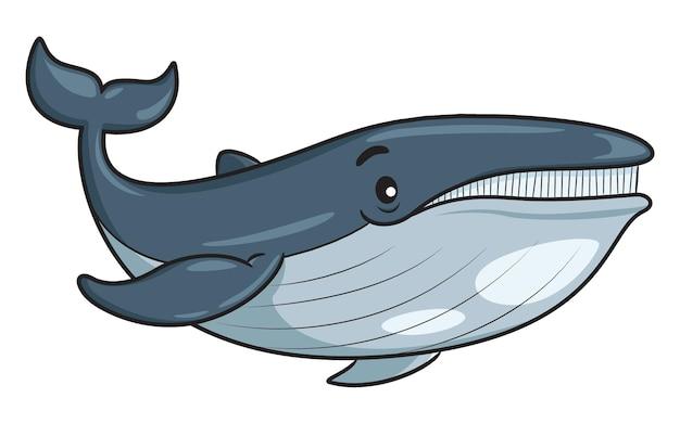 Illustrazione della balena simpatico cartone animato
