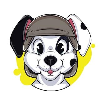 Illustrazione di avatar cane carino
