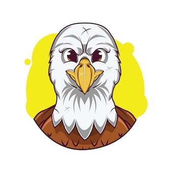 Illustrazione di avatar carino aquila