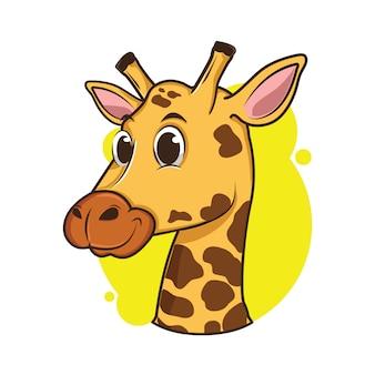 Illustrazione di avatar carino giraffa