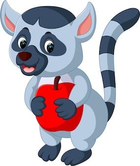 Illustrazione del cartone animato carino lemure