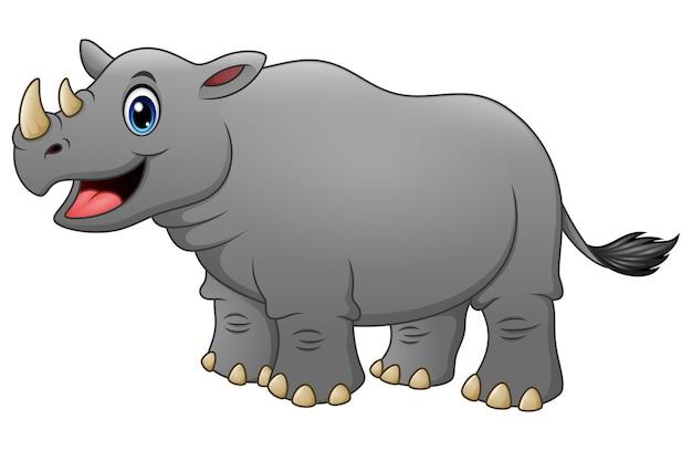 Illustrazione del cartone animato carino rinoceronte