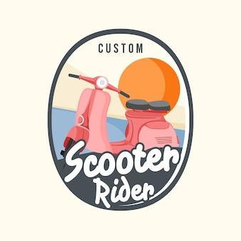 Illustrazione di carino scooter