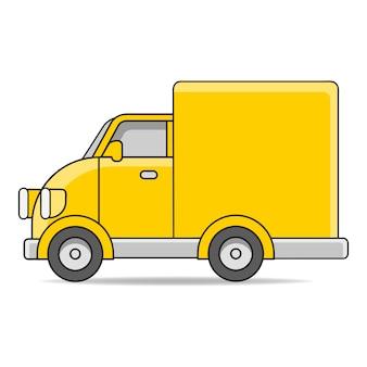 Illustrazione dell'icona del camion di consegna. trasporto logistico Vettore Premium