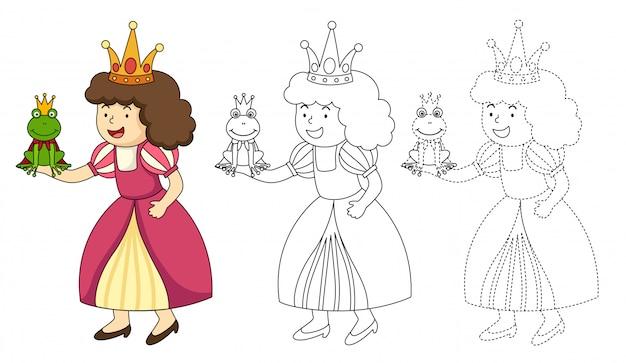 Illustrazione del libro da colorare educativo