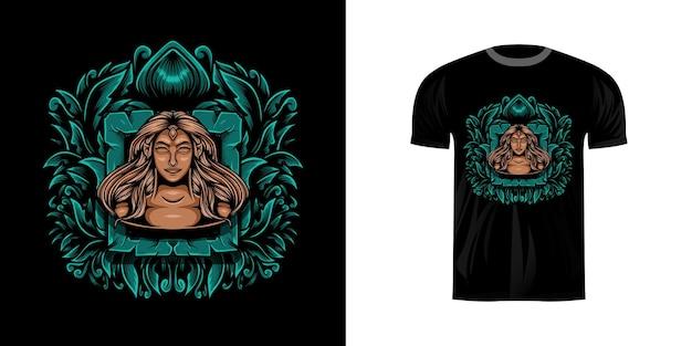 Elfo di illustrazione per il design di t-shirt