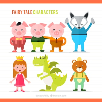 Illustrazione di personaggi fiaba