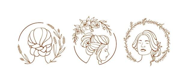 Illustrazione del simbolo femminile con floreale