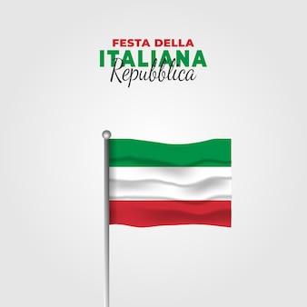 Illustrazione della festa della repubblica italiana. festa della repubblica italiana.