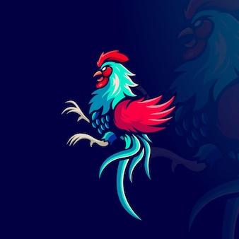 Illustrazione del gallo da combattimento