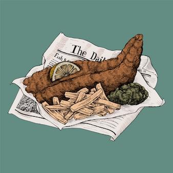 Illustrazione di fish and chips