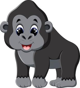 Illustrazione del cartone animato divertente gorilla