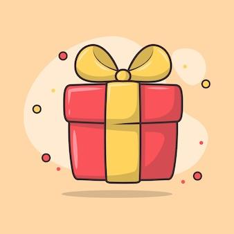Illustrazione di una confezione regalo avvolta in un nastro