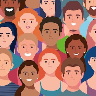 Illustrazione di un gruppo di persone