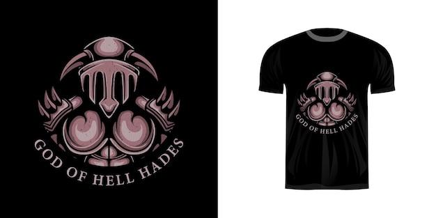 Illustrazione ade per il design della maglietta