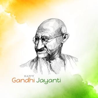 Illustrazione di sfondo happy gandhi jayanti