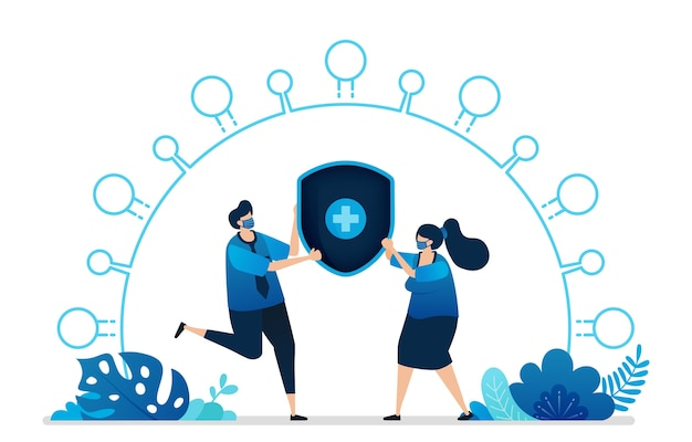 Illustrazione dei servizi di assicurazione di protezione sanitaria
