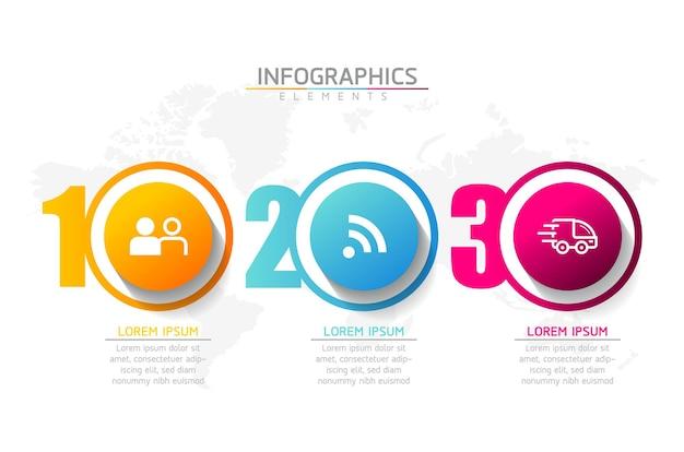 Illustrazione modello di progettazione infografica, informazioni aziendali, diagramma di presentazione
