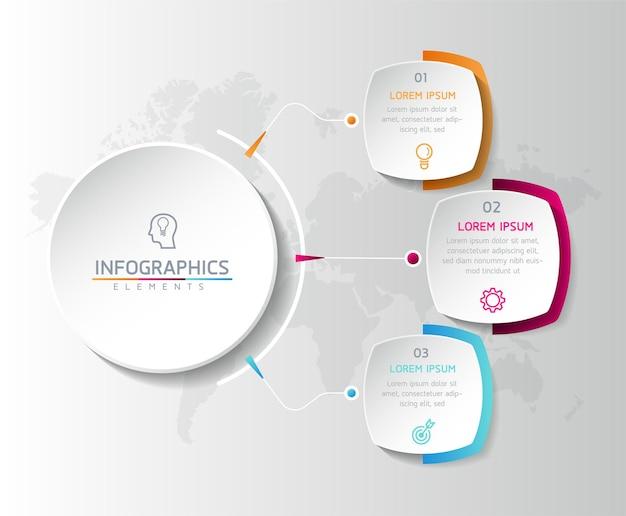 Illustrazione infografica modello di progettazione diagramma di presentazione delle informazioni aziendali