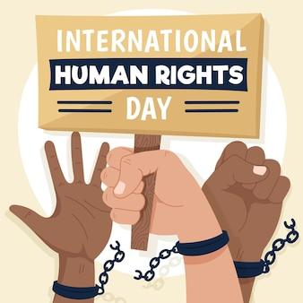 Illustrazione della giornata internazionale dei diritti umani illustrazione