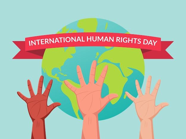 Illustrazione della giornata internazionale dei diritti umani